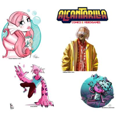 Reto 4 ilustradores vs 1 personaje Sábado 30/01/2021 – 19.00-20.30